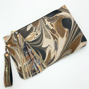Amber Denim Wristlet - No One Alike