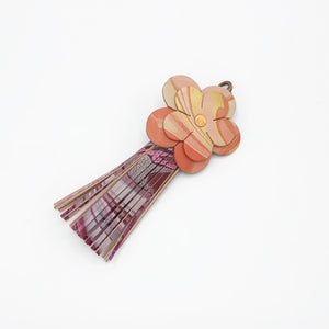 Coral Pearl Floral Tassel - No One Alike