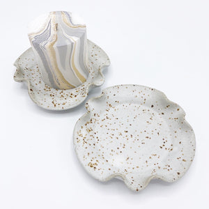 Meloy White Candle Holder Dish