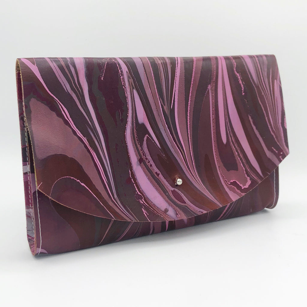 Berry Blush Tessa Curved Clutch - No One Alike