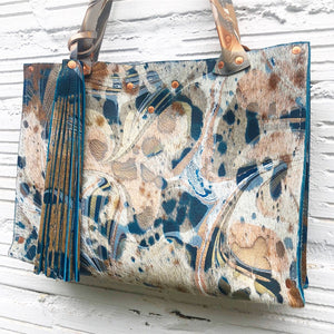 Hair on Hide Blue Jackie O Bag - No One Alike