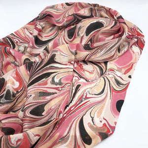 Crimson Rush Large Silk Wrap - No One Alike