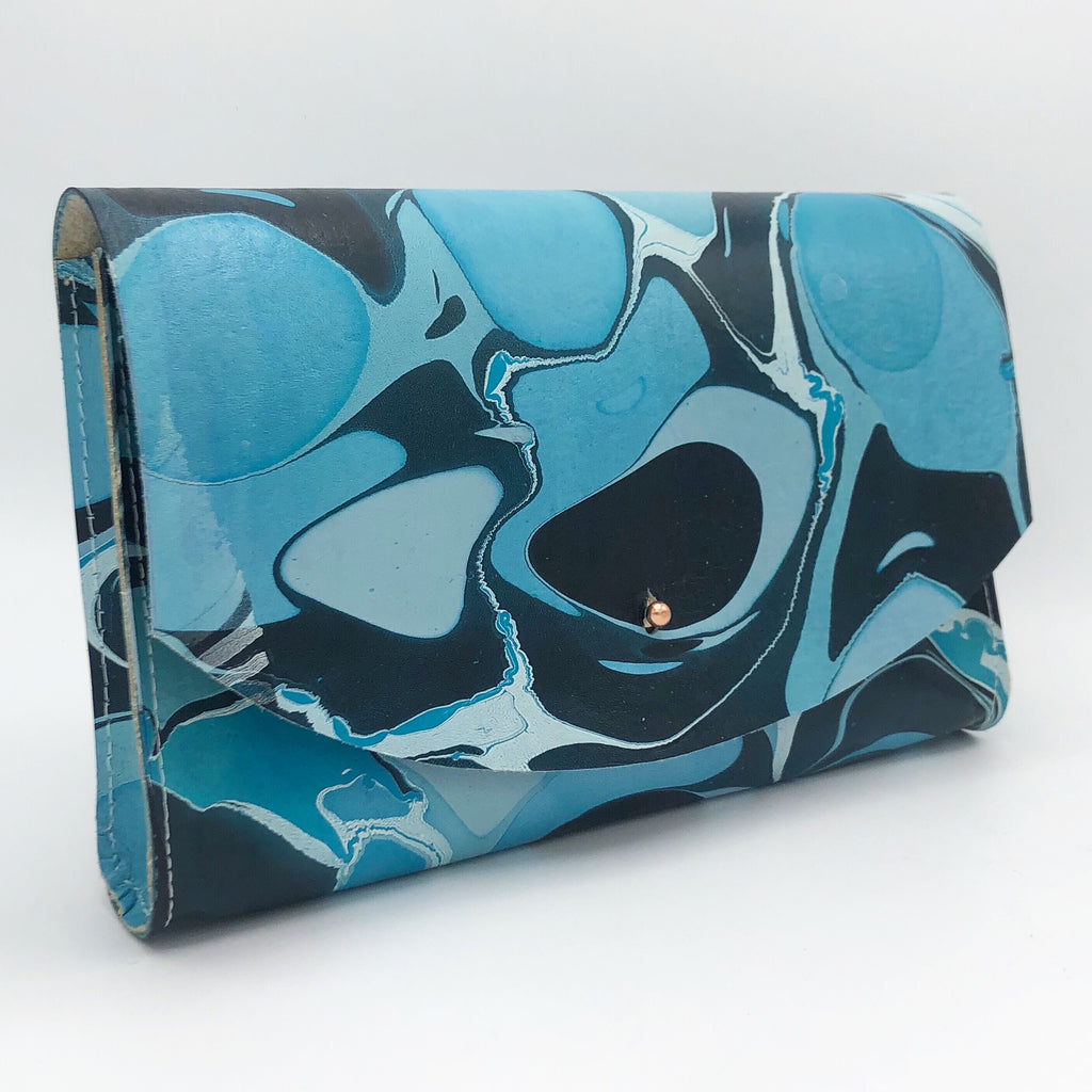 Frosted Teal Tessa Curved Clutch - No One Alike