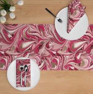 Cranberry Blush Table Runner