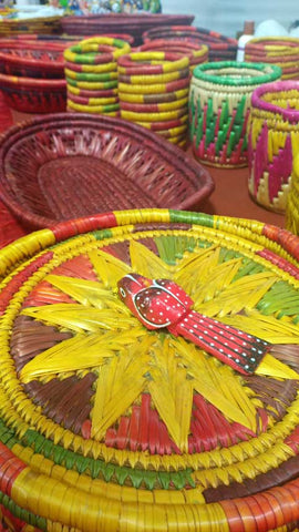 Cane handicrafted baskets India