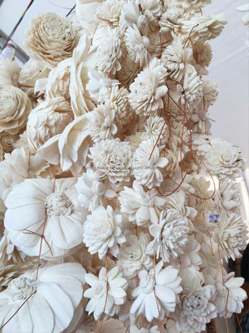 Gorgeous Sola Flower Craft from West Bengal, India. Studio Diaries Blog at 17th Art Street by Aaalie Tandon