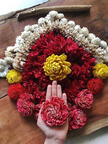 Sola Flower craft - handcrafted Sola Flower Garlands at dastkar Bangalore 2021, Studio Diaries Blog at 17th Art Street by Aalie Tandon
