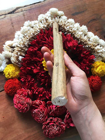 Sola Wood raw material for Sola Flower Craft - handcrafted Sola Flower Garlands at dastkar Bangalore 2021, Studio Diaries Blog at 17th Art Street by Aalie Tandon
