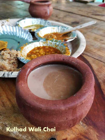 Kulhad wali Chai, Classic Indian style Tea served in terracotta cups