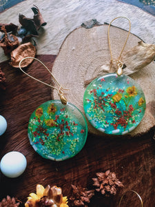 Misty Mornings, Dried Flower Earrings -  Spring Fiesta Reloaded