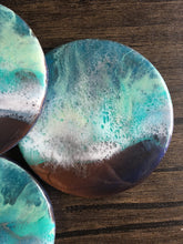 Load image into Gallery viewer, Serene Shores - Compressed Wood Coasters (Set of 4)