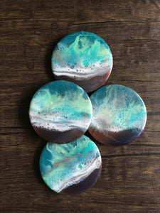Serene Shores - Compressed Wood Coasters (Set of 4)