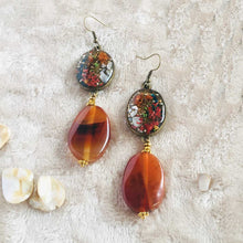 Load image into Gallery viewer, Vermillion Verses - Earrings, Vintage Archives Collection