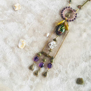 Amethyst Alchemy - Statement Necklace, Vintage Archives Collection