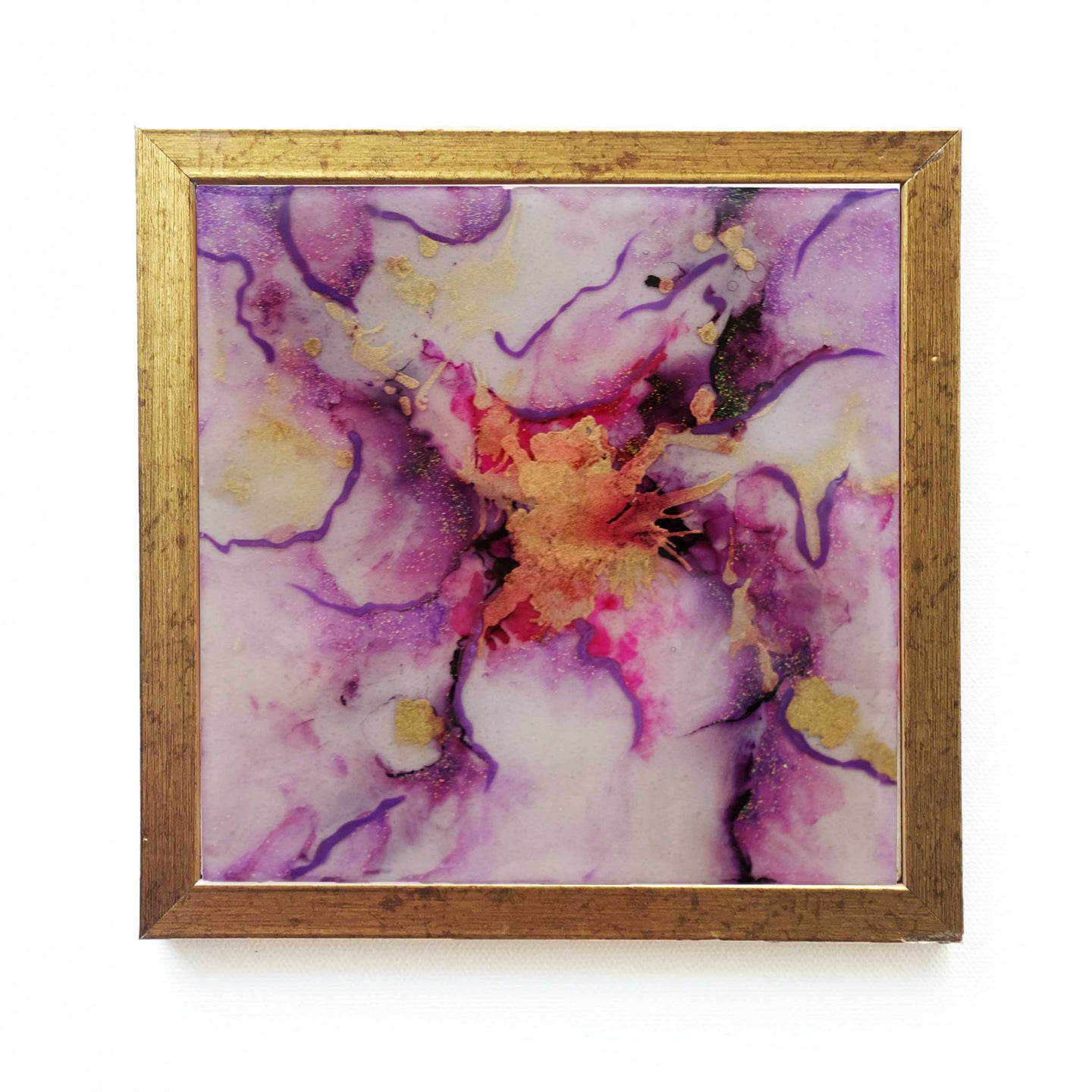 Periwinkle - Original Handpainted Ceramic Wallart