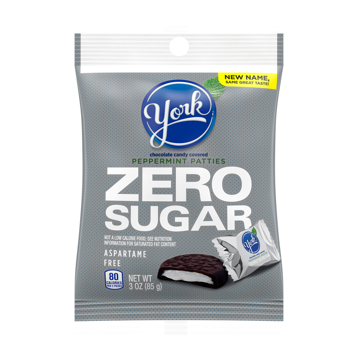 Hershey's - Sugar Free Candy - York Peppermint Patties - 3 oz Bag