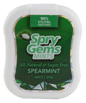 Xlear - Spry Gems Mints - Spearmint - 40 pcs - Low Carb Canada