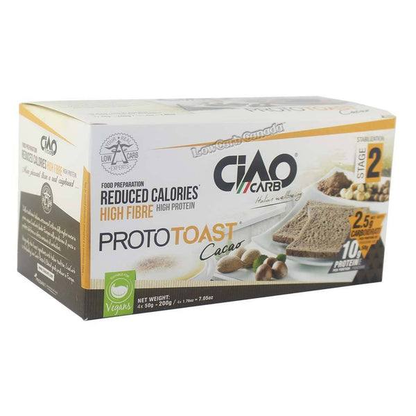 Ciao Carb - Proto Toast - Cacao - 4 x 50g - Low Carb Canada - 1