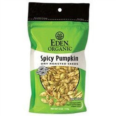 Eden Organic - Pumpkin Seeds - Spicy - 4 oz Bag - Low Carb Canada