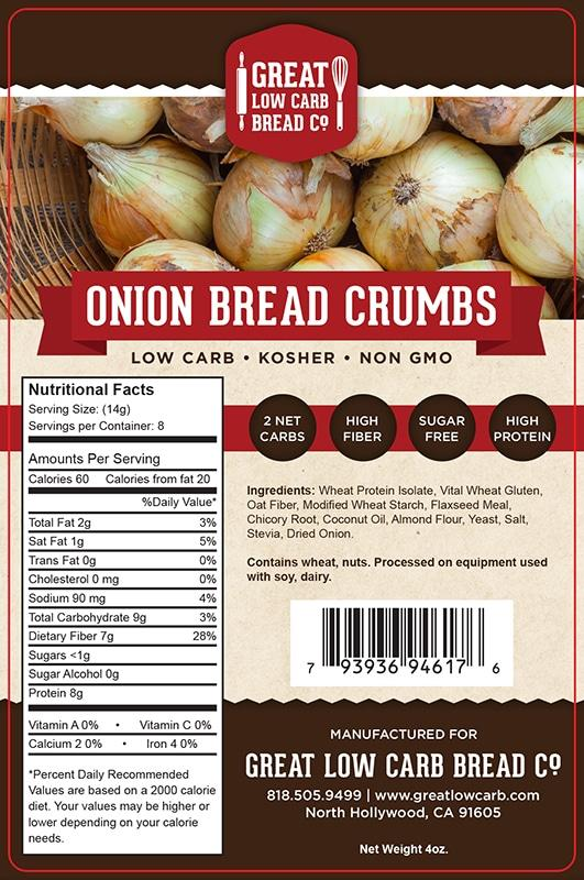 Great Low Carb Bread Company - Bread Crumbs - Onion flavour - 4 oz bag