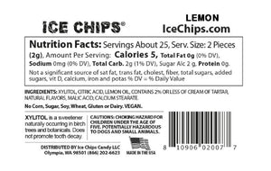 Ice Chips - Xylitol Sugar Free Candy - Lemon - 1.76 oz