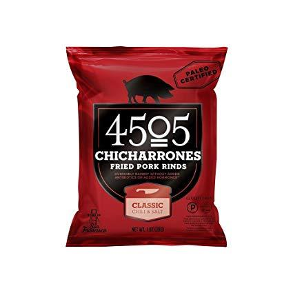 4505 Chicharrones Pork Rinds - Classic Chilli & Salt - 2.5 oz Bag