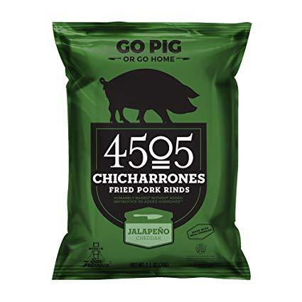 4505 Chicharrones Pork Rinds - Jalapeno Cheddar - 2.5 oz Bag