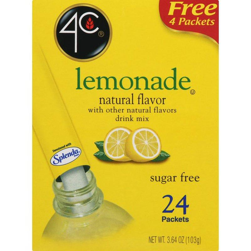 4C Lemonade Drink Mix - 24 Packets