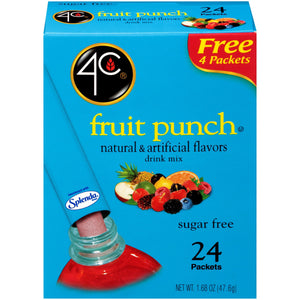 4C Fruit Punch Drink Mix - 24 Packets
