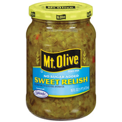 Mt. Olive - Sugar Free - Sweet Relish - 16 fl oz