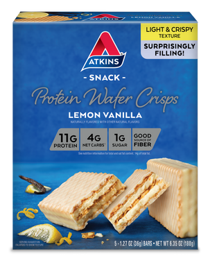 Atkins - Protein Wafer Crisp - Lemon Vanilla - 5 Bars
