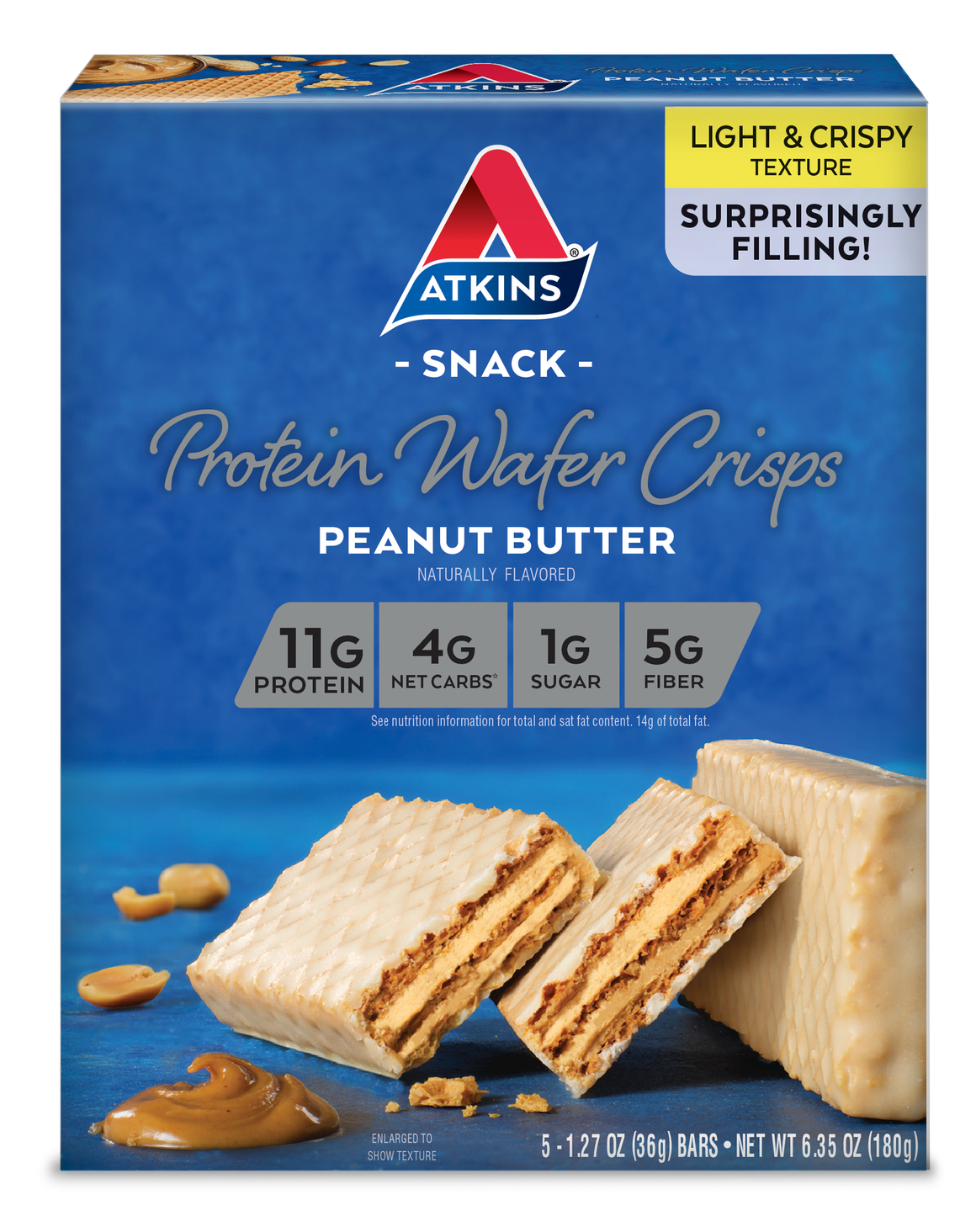 Atkins - Protein Wafer Crisp - Peanut Butter - 5 Bars