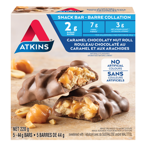 Atkins - Snack Bar - Caramel Chocolaty Nut Roll - 5 Bars