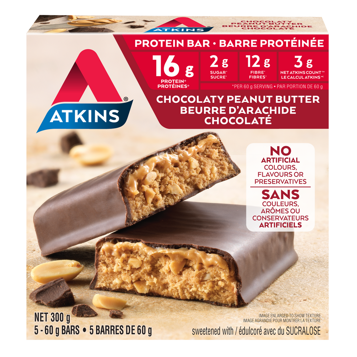 Atkins - Protein Bar - Chocolaty Peanut Butter - 5 Bars