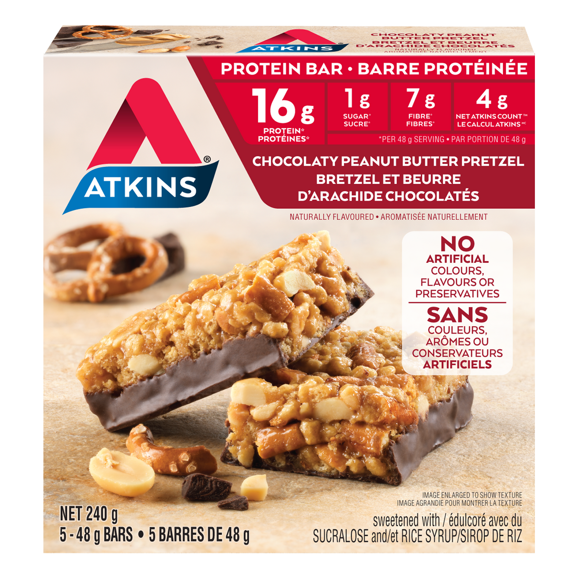 Atkins - Protein Bar - Chocolaty Peanut Butter Pretzel - 5 Bars