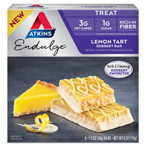 Atkins Endulge Treat - Lemon Tart Dessert Bars  - 5 Bars