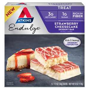 Atkins Endulge Treat - Strawberry Cheesecake Dessert Bars - 5 Bars