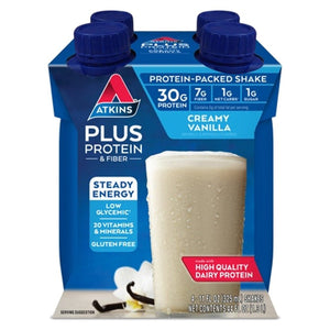 Atkins - Ready to Drink Shakes Plus Protein - Vanilla