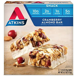 Atkins - Snack Bars - Cranberry Almond - 5 Bars