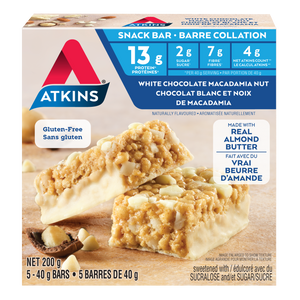 Atkins - Snack Bar - White Chocolate Macadamia Nut - 5 Bars