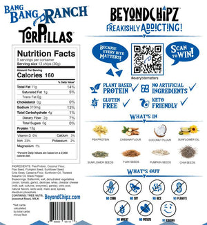 BeyondChipz Torpillas - Bang Bang Ranch - 5.3 oz Bag