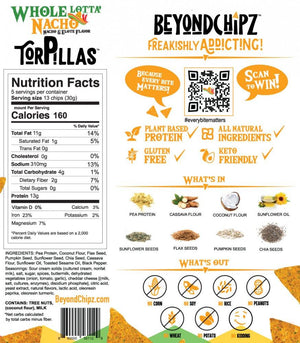 BeyondChipz Torpillas - Whole Lotta Nacho - 5.3 oz Bag