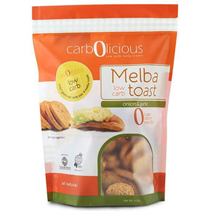 Carbolicious - Low Carb Melba Toast - Onion & Garlic - 4 oz
