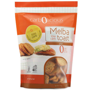 Carbolicious - Low Carb Melba Toast - Plain - 4 oz