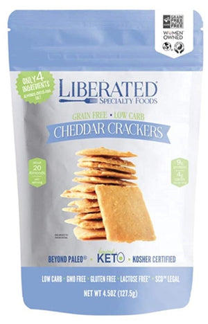 Liberated Specialty Foods - Cheddar Crackers - 4.5 oz