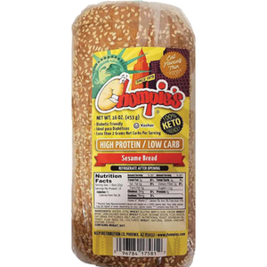 Chompies - Low Carb High Protein Sesame Bread - 16 oz bag