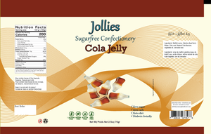 Jollies Sugar Free Candy - Cola Bottles - 2.5oz