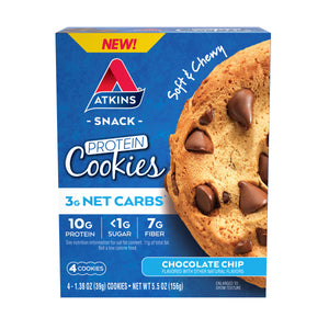 Atkins - Protein Cookies - Chocolate Chip - 4 Cookies