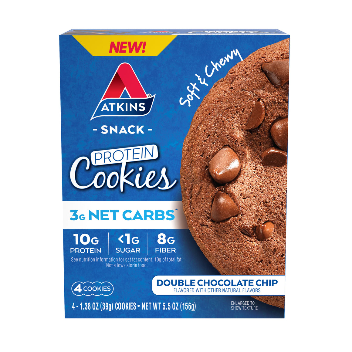 Atkins - Protein Cookies - Double Chocolate Chip - 4 Cookies