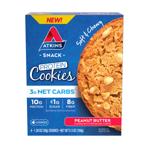 Atkins - Protein Cookies - Peanut Butter - 4 Cookies